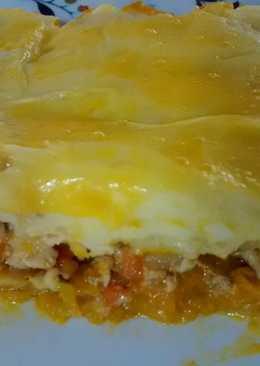 Pastel de pollo, papas y zapallo 🍗🍴