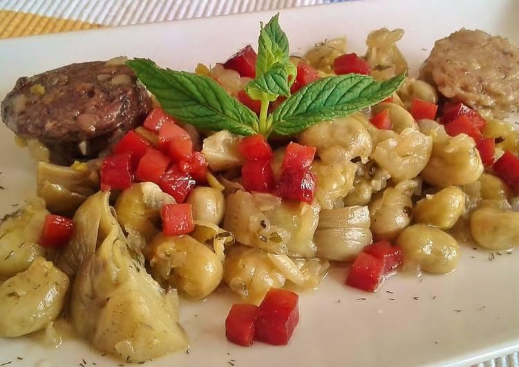 Habas con jam n receta de josevillalta520 cookpad - Habas frescas con jamon ...