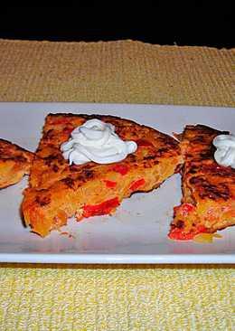 Tapas - Tortilla de pimientos y tomates