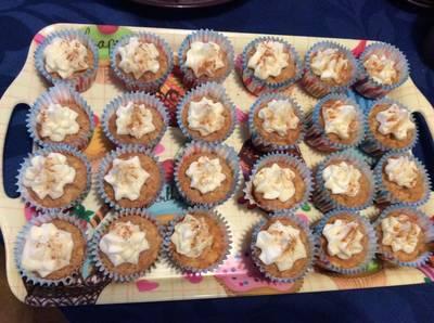 Minicupcakes sin gluten de manzana y canela