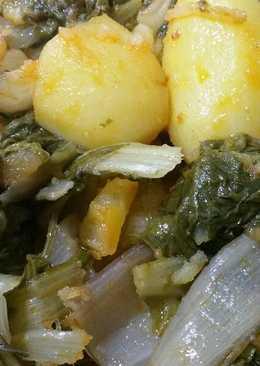 Acelgas con patata, ajo y pimentón 😋