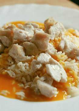 Arroz con crema de calabaza y pollo 🍛 de aprovechamiento