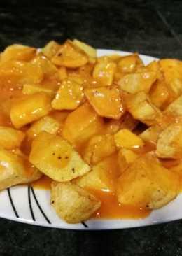 Patatas bravas (sin tomate)
