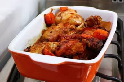 ¿Cómo preparar pollo al horno con Barbacoa?