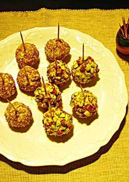 Pintxos - Trufassorpresa en gabardina de frutos secos
