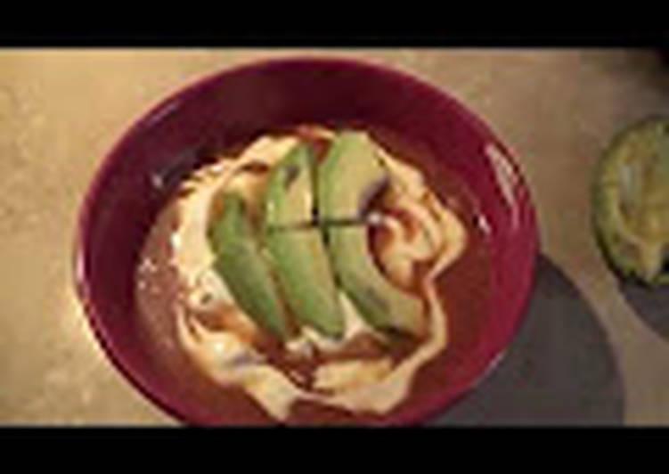Riquísima sopa de tortilla mexicana