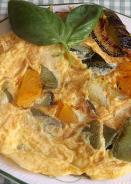 Tortilla rápida de hortalizas frescas