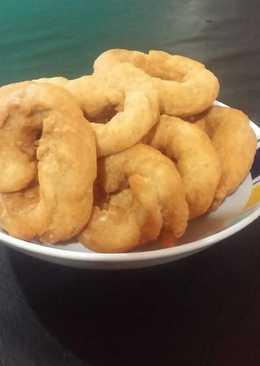 Rosquitas fritas con edulcorante, avena y canela..😀