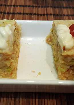Tapa pastelito de puerro y cabracho