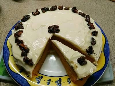 Tarta de zanahorias y crema de queso