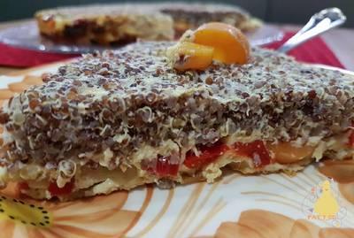 Pastel de quinoa roja con verduras y manzana!!!