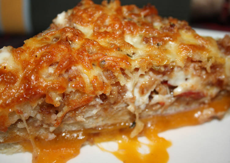 receta de sandwich de pollo gratinado