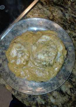 Crema de calabacín y puerros con pescado a la plancha