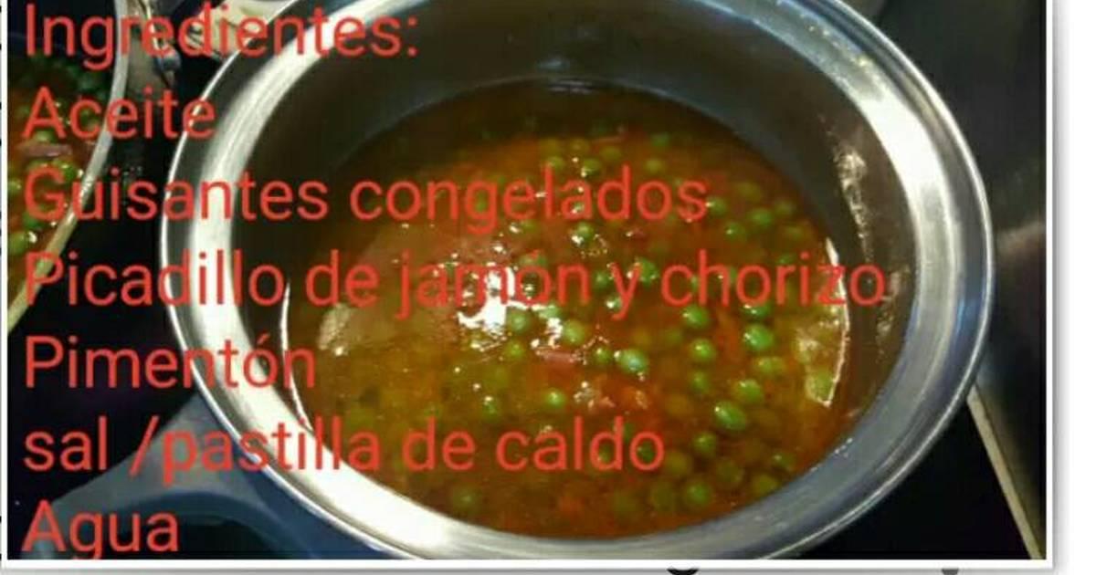 Cocinar guisantes recetas caseras cookpad for Cocinar guisantes congelados