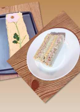 Sandwichón o pastel de tuna