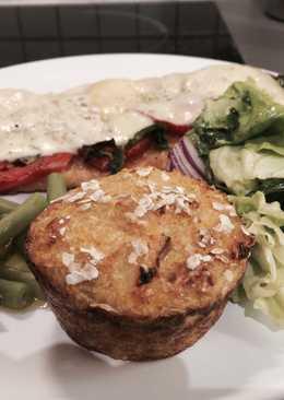 Menu light: Milanesa de pavo y muffin de quinoa