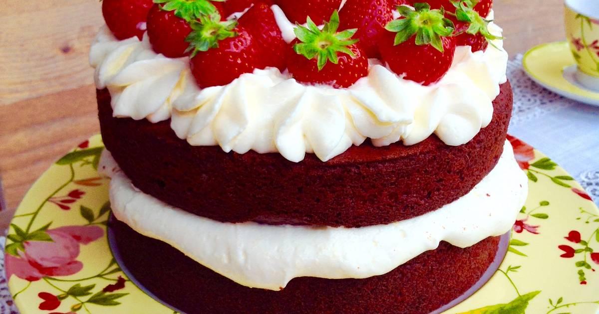 Red velvet cake receta de milagros cortes calvo cookpad - Tarta red velvet alma obregon ...
