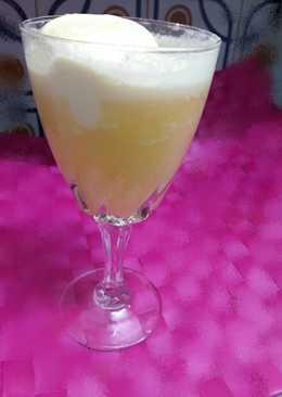 Zumo de naraja con helado de vainilla