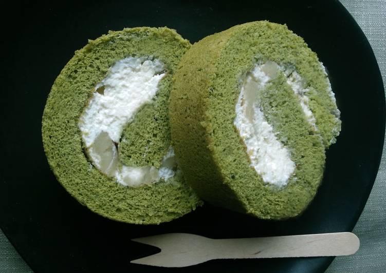 Roll Cake de té Matcha