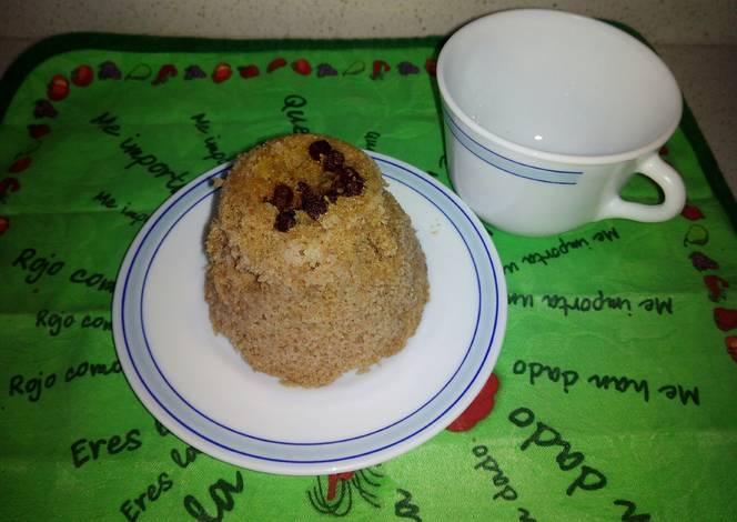 Bizcocho a la taza con microondas receta de helen martinez - Bizcocho con microondas ...