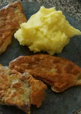 Lampreado - Escalopes de carne con puré