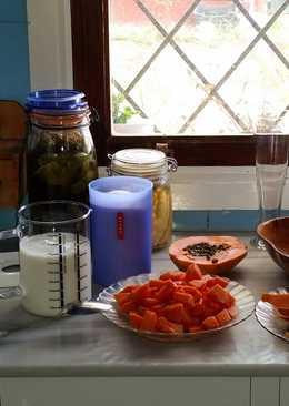 Batido de papaya (variedad intensa)