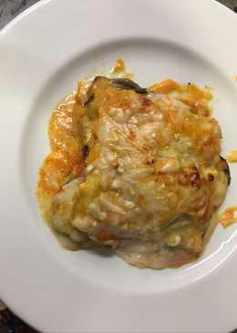 Lasaña de berenjenas y calabacín con Parmesano