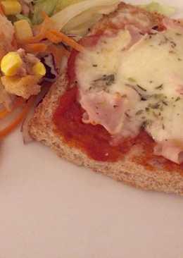 Pan-pizza con pan de molde