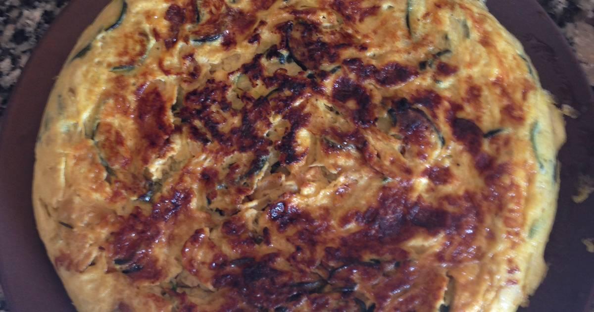 Tortilla de calabac n con puerro y cebolla receta de xena - Tortilla de calabacin y cebolla ...