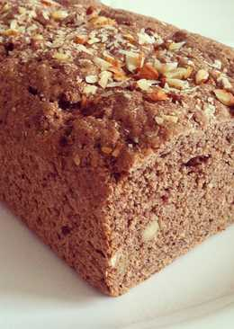 Pan integral con almendras, semillas, y cacao