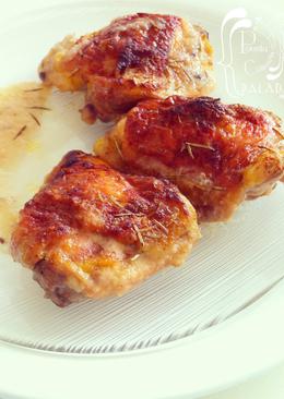 Pollo al horno con romero y jengibre