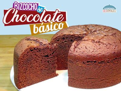 Bizcocho de chocolate básico