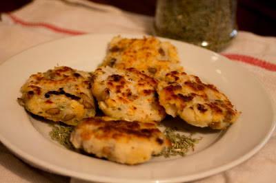 Tortitas de bacalao con pipas