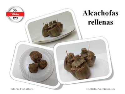 """""""Apto para personas con Diabetes"""": Alcachofas rellenas"""