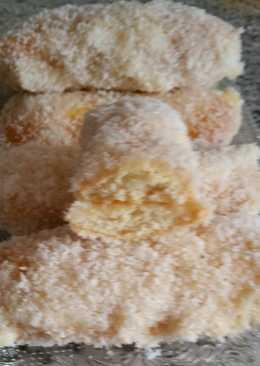 Bizcochitos de coco y crema pastelera