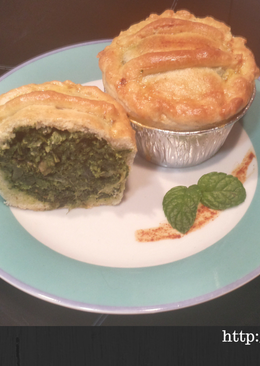 Mini spinach pie/mini pastel de espinacas B.B.B.