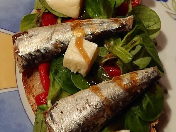 Tosta de sardinas