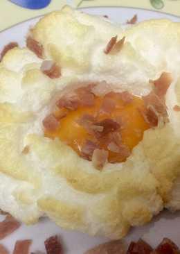 Huevos nube con jamón☁️🍳⛅️