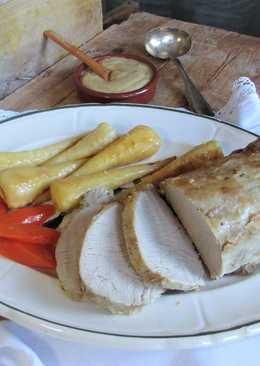 Lomo de cerdo en salsa San Miguel