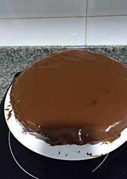 Tarta de chocolate con cobertura