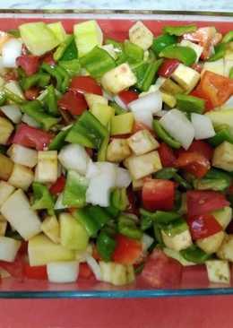 Verduras de la huerta al horno. Cena Light