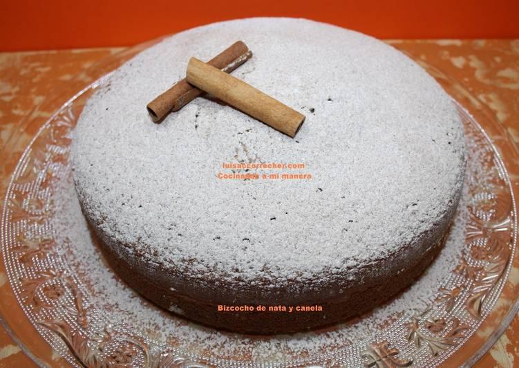 Bizcocho Con Nata De Cocinar | Bizcocho De Nata Y Canela Receta De Luisa C Correcher Cookpad