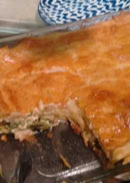 Pay de rajas de chile Poblano y queso Adobera del tianguis