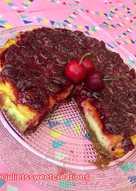 Tarta de queso con base de galletas y cobertura de cerezas 🍒 (cheesecake)