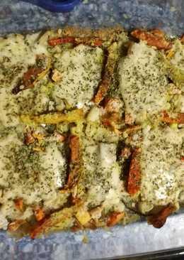 Berenjenas con verduras, queso y piñones (BLW)