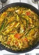 Arroz de verduras como me enseñaron en alicante