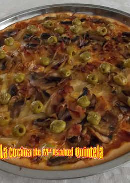 Pizza de cebolla y mozzarella