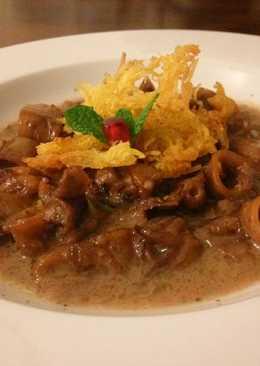 Calamar en salsa de Jengibre con crujiente de patata🎄