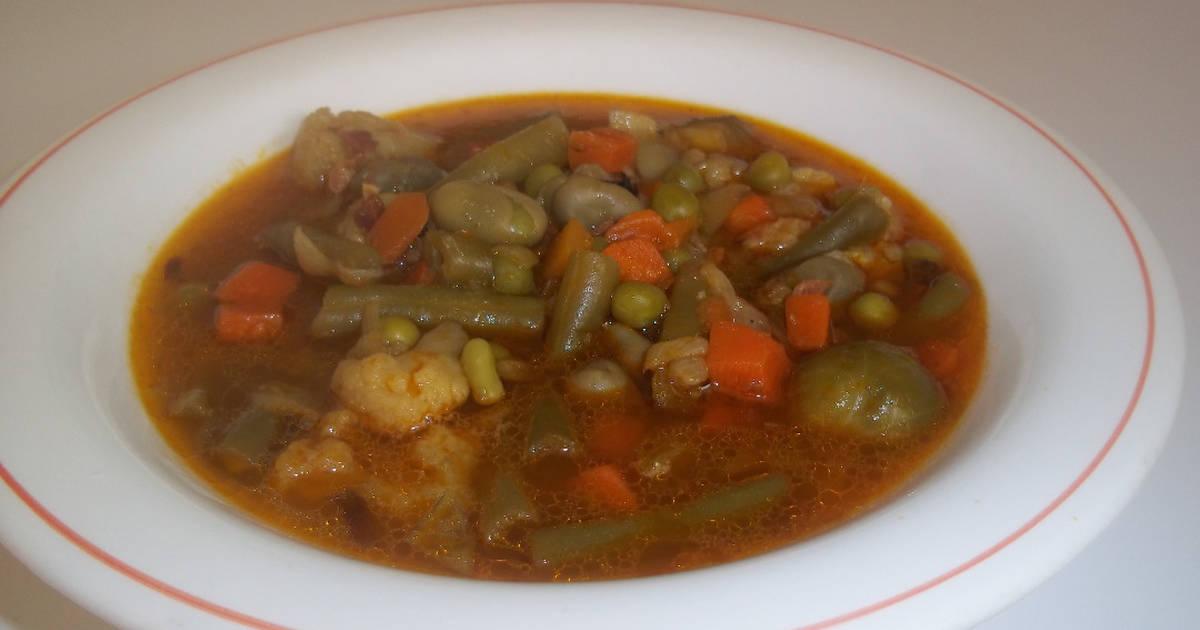 Bonito cocinar menestra de verduras fotos esta receta de - Como preparar menestra de verduras ...
