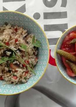 Arroz integral con verduras y tomillo